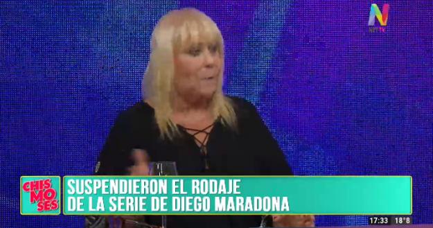 Suspendieron el rodaje de la serie de Maradona