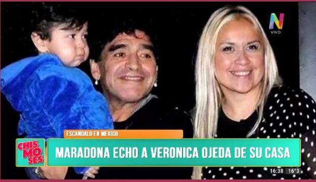 Maradona y Verónica Ojeda