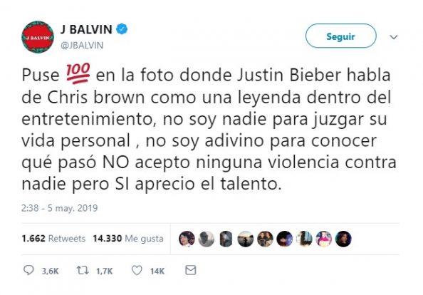 Resultado de imagen para balvin chris brown twitter