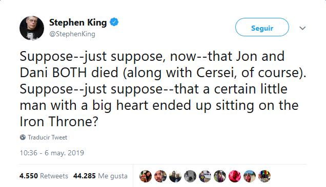 Tuit Stephen King 1