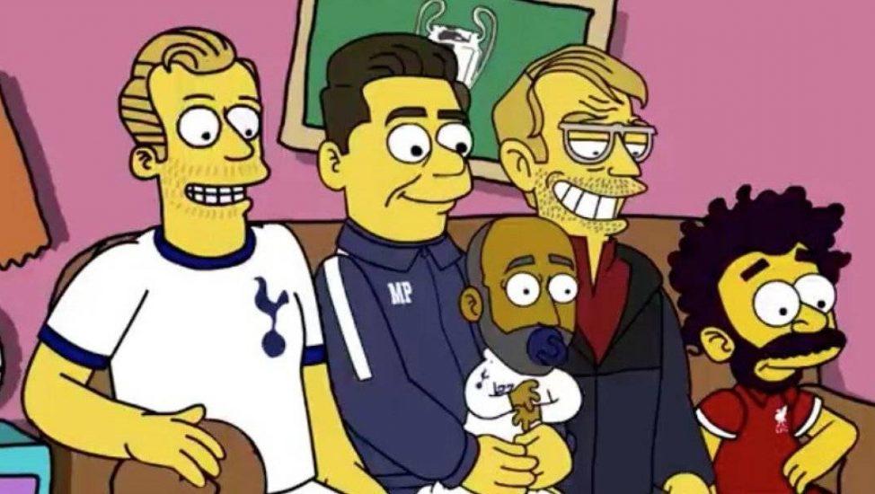 la champions league los simpson
