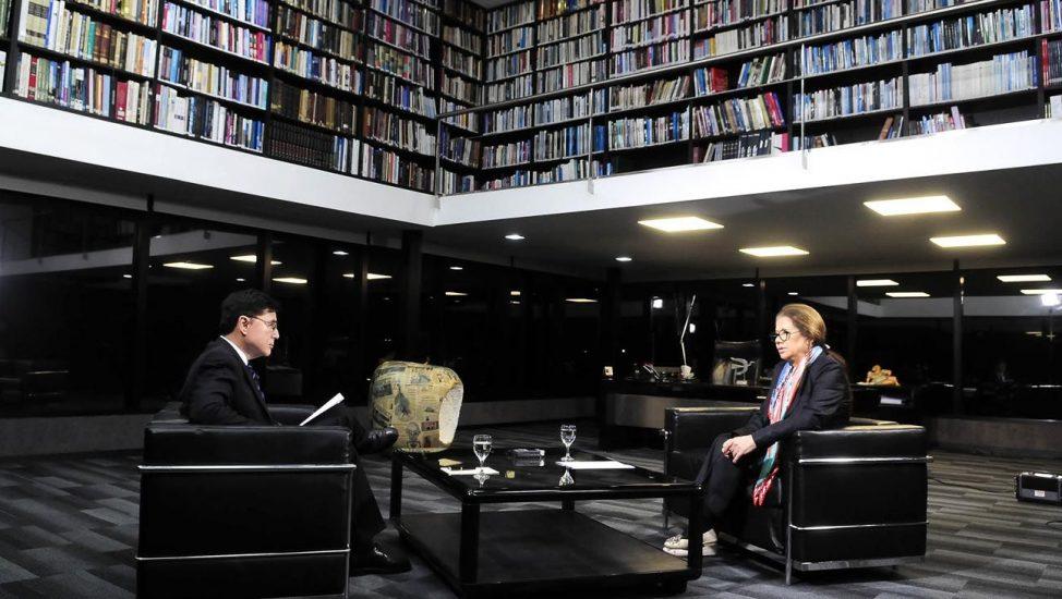 Graciela Camaño en la entrevista con Jorge Fontevecchia