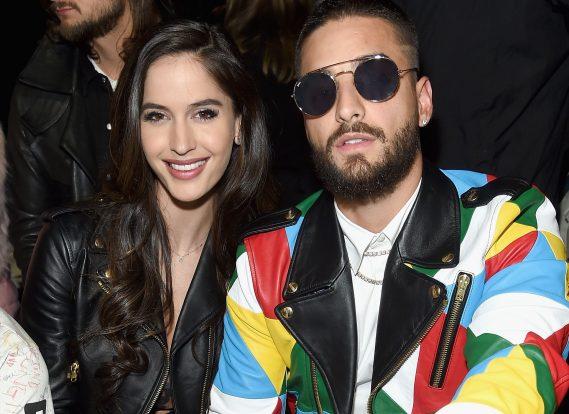 Maluma y su novia Natalia Barulich