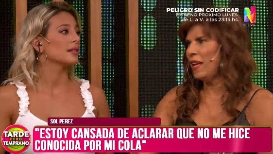 """Fuerte cruce entre Sol Pérez y Anamá Ferreira: """"Se hizo conocida por su cola"""""""