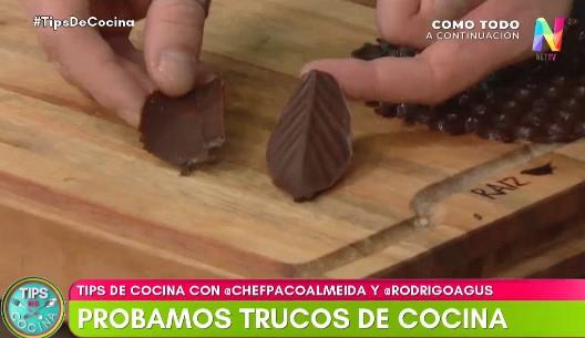 formas de chocolate
