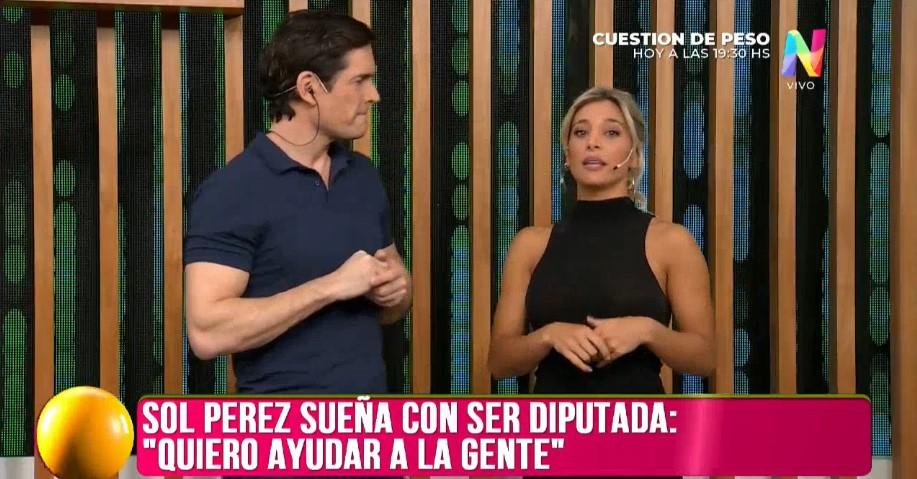 """Sol Pérez sobre su candidatura: """"Me llamaron de partidos importantes"""""""