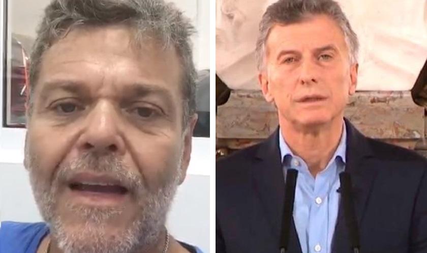 Alfredo Casero y Mauricio Macri