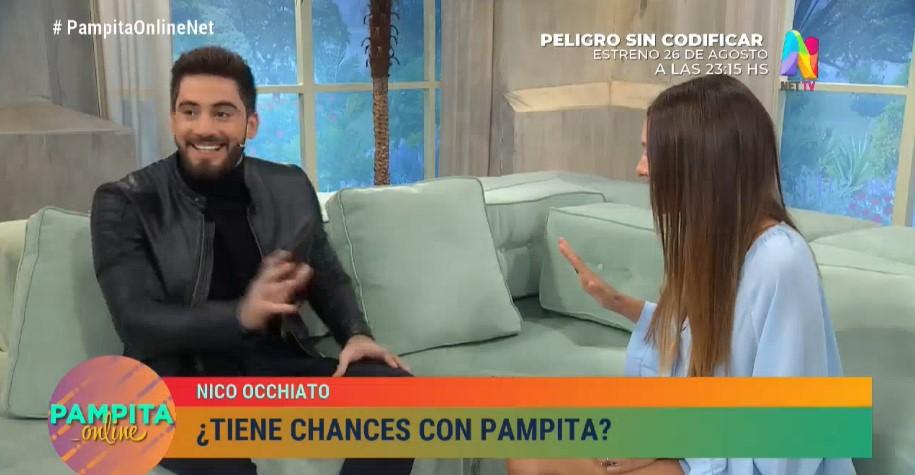 Nico Occhiato encaró a Pampita y así reaccionó ella