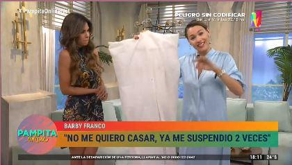 Barby Franco sortea su vestido de n ovia en Pampita Online