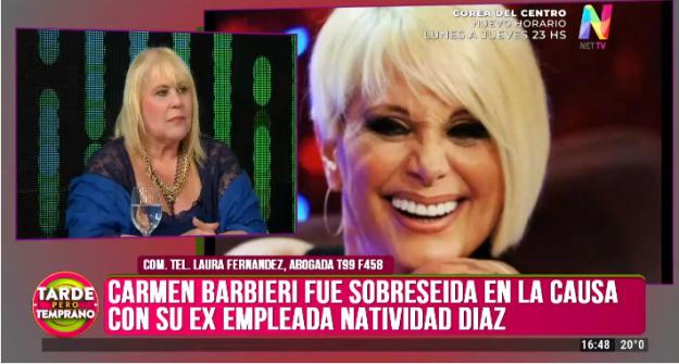 Carmen Barbieri sobreseida