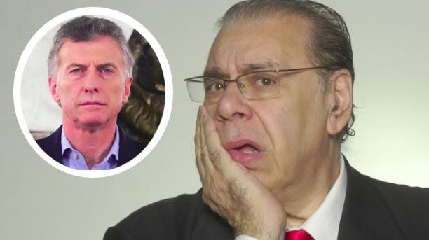Enrique Pinti y Mauricio Macri
