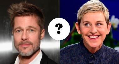 Brad Pitt y Ellen DeGeneres