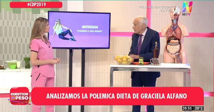 Cormillot analiza la dieta de Graciela Alfano