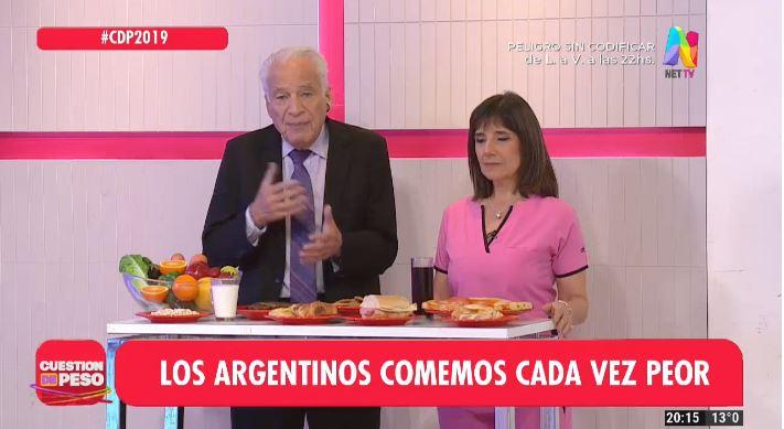 Alberto Cormillot y Cecilia Garau hablan de la Malnutrición en los argentinos