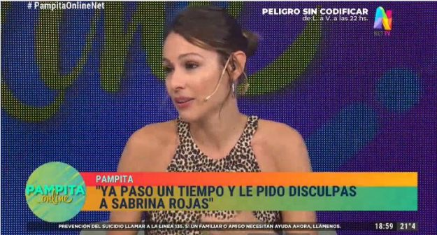 Pampita disculpas a Sabrina Rojas