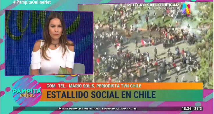 """Pampita sobre protestas en Chile: """"Es gente que salió a mostrar su violencia"""""""