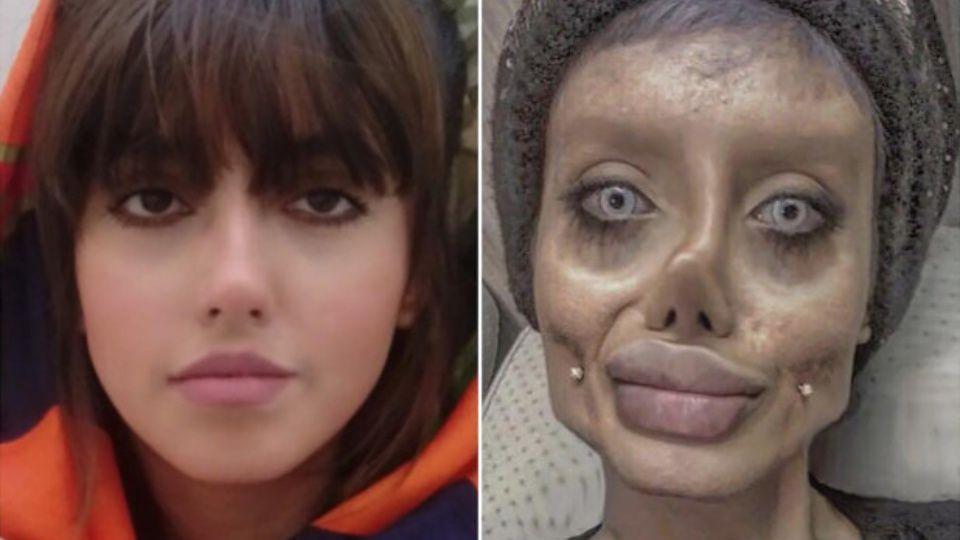 """La """"Angelina Jolie zombie"""" se confesó en televisión desde una cárcel en Irán"""