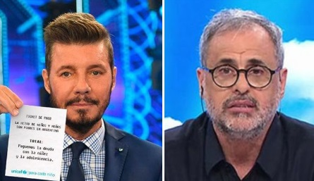 Marcelo Tinelli y Jorge Rial