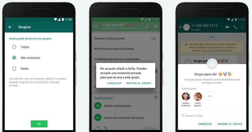 WhatsApp ya activó la función para que no te agreguen a grupos sin permiso