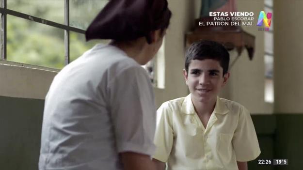 Pablo Escobar niño