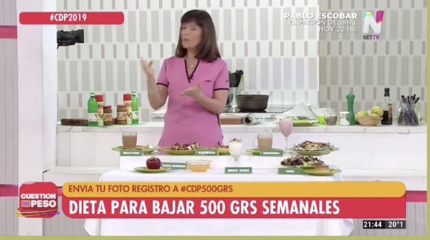 Dieta para bajar 500 gramos semanales