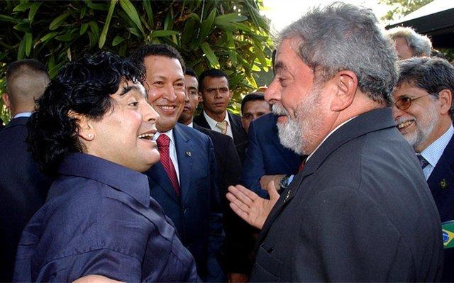 Así celebró Diego Maradona la liberación de Lula da Silva