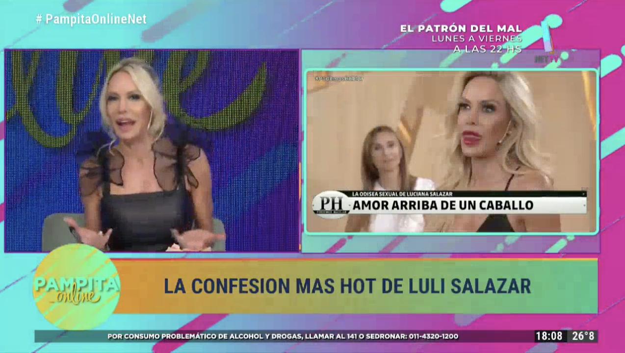 Luciana Salazar dio detalles de su aventura sexual sobre un caballo