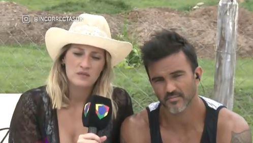 Mica Viciconte y Fabián Cubero