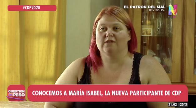 María Isabel ingresó a Cuestión de Peso