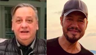 Hugo Basilotta y Marcelo Tinelli