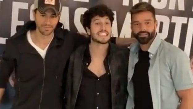 Ricky Martim, Enrique Iglesias y Sebastián Yatra