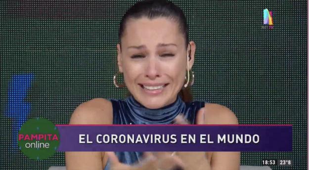 Pampita llorando