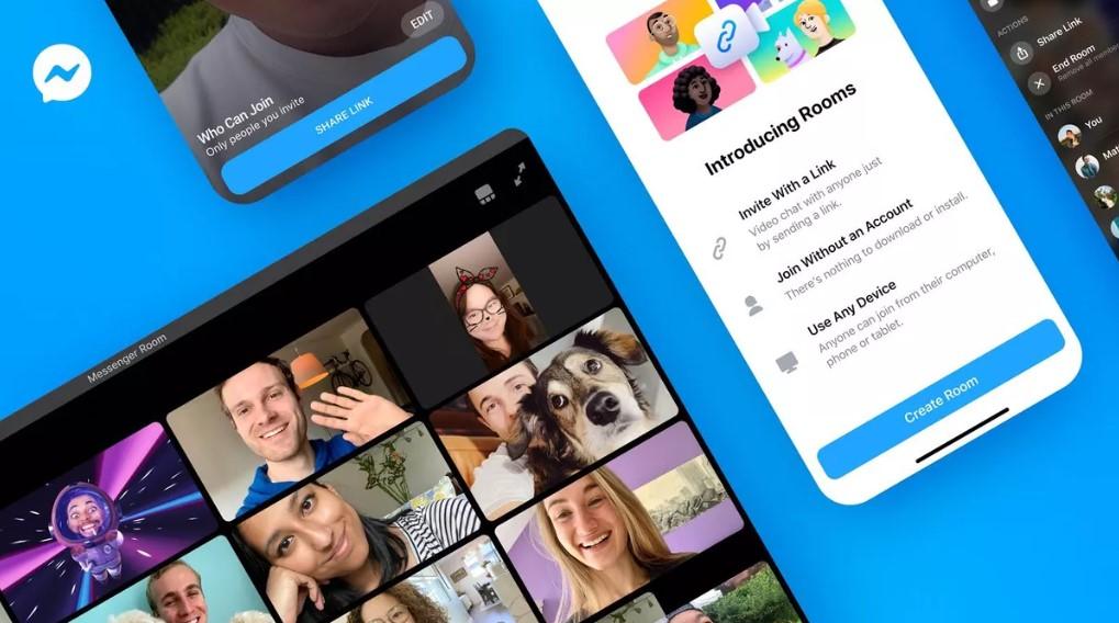 Facebook lanza Messenger Rooms, la App que vincula a WhatsApp para competir con Zoom