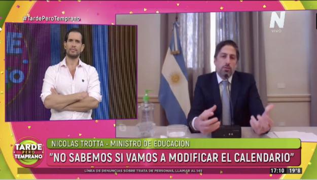 Ministro de educación Nicolás Trotta