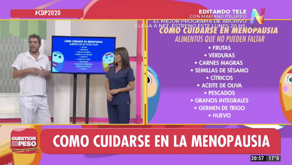 Dr. Adrián Cormillot y Cecilia Garau