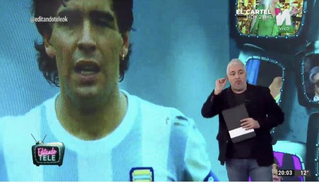 Editando Tele sobre serie de Maradona
