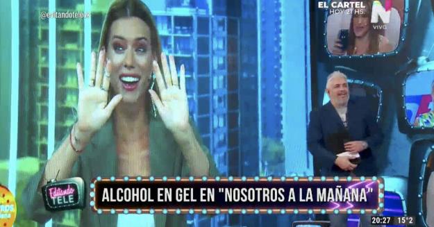 Nicole Neumann sobre el alcohol en gel Editando Tele