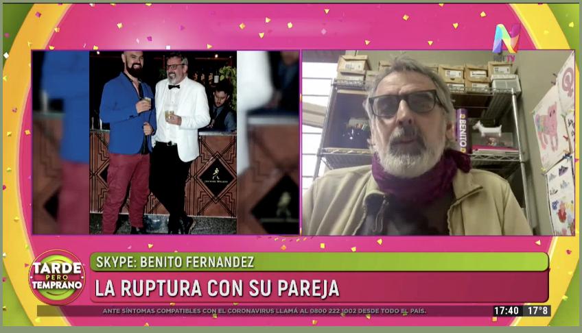 Benito Fernández dio detalles de la ruptura con su novio