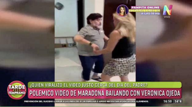 Diego Maradona con Verónica Ojeda