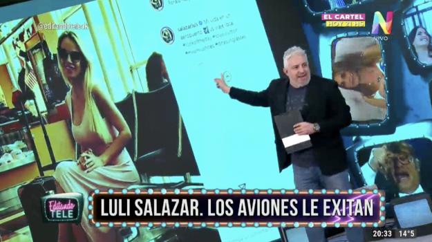 Luli Salazar Editando Tele