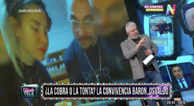 Jimena Barón y Daniel Osvaldo Editando Tele