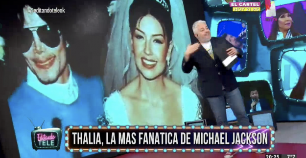 Thalía fan de Michael Jackson Editando Tele