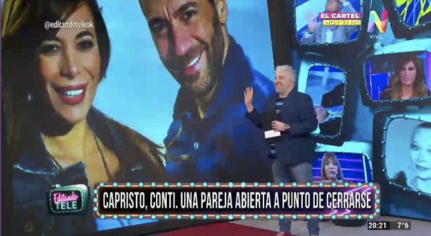 Gustavo Conti y Ximena Capristo Editando Tele
