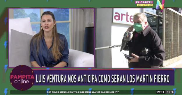 Luis Ventura en Pampita Online