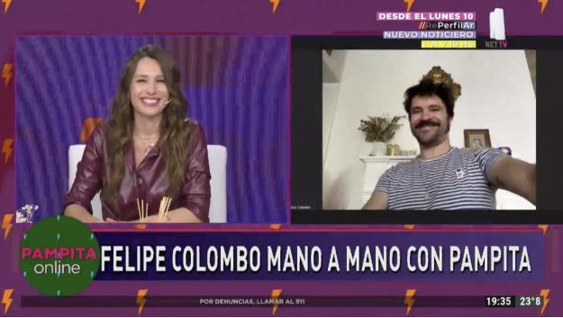 Pampita y Felipe Colombo