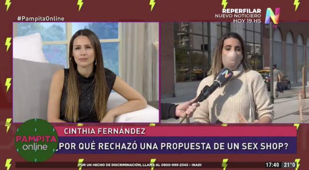 Cinthia Fernández en Pampita Online