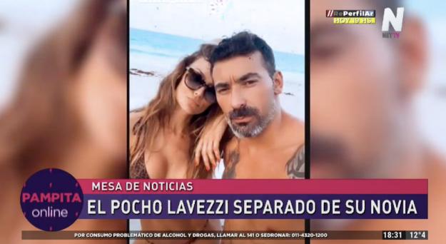 """Ezequiel """"Pocho"""" Lavezzi y Natalia Borges"""