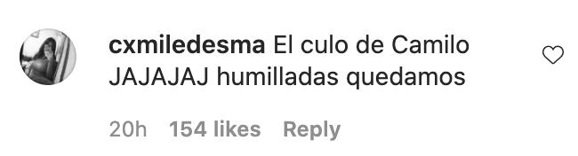 Elogio a las nalgas de Camilo