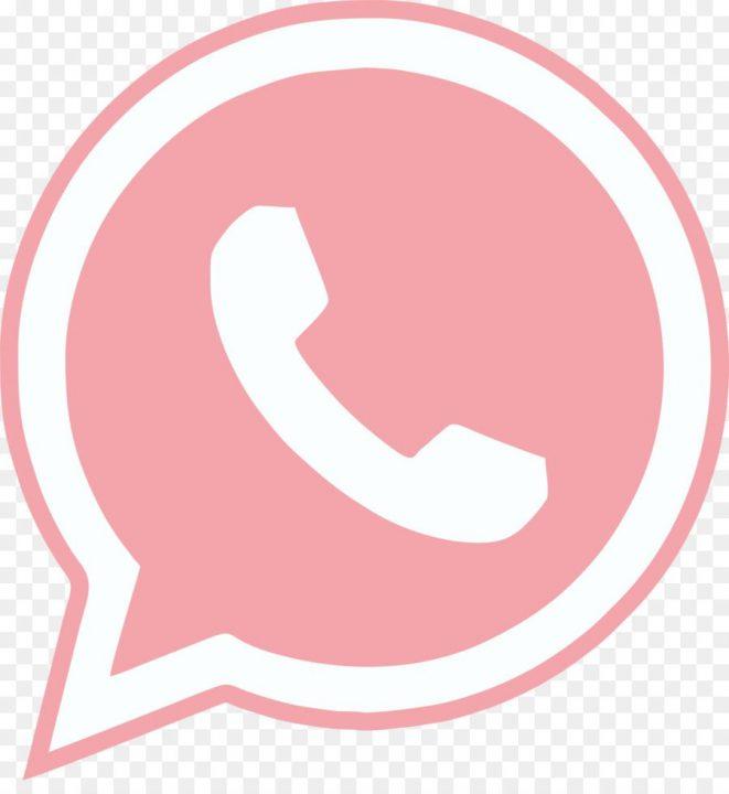 Whatsapp Logo Rosa