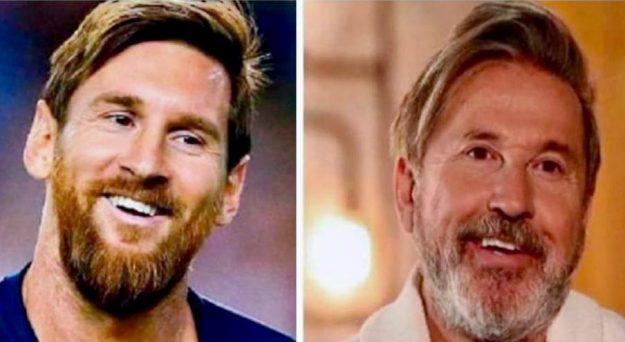 Ricardo Montaner y Lionel Messi